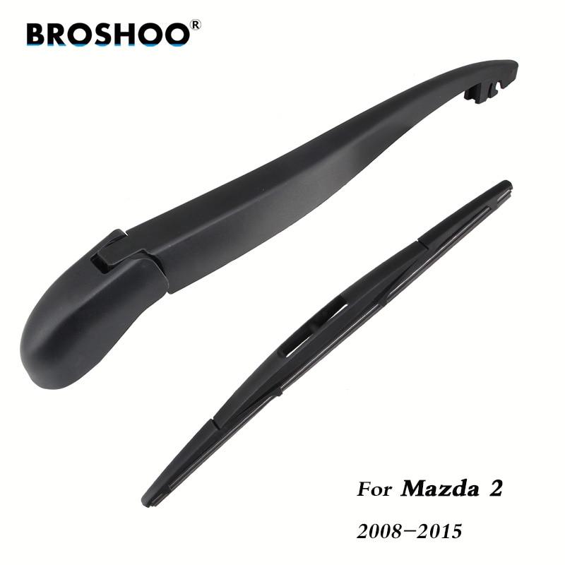 X AUTOHAUX Rear Window Windshield Wiper Blade Arm Set for Car 280mm 11