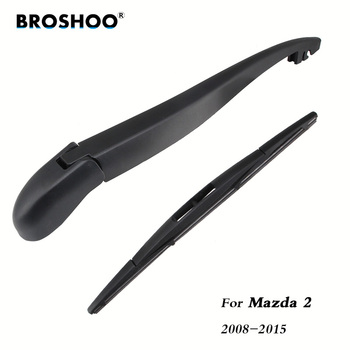 цена на BROSHOO Auto Car Rear Wiper Blades Back Windscreen Wiper Arm For Mazda 2 Hatchback 2008 2009 2010 2011 2012 2013 2014 2015 355mm