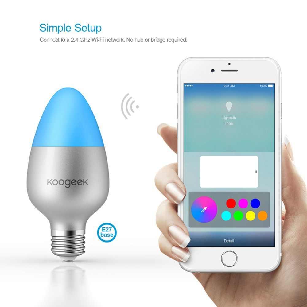 Koogeek 8W Đổi Màu Mờ WiFi Thông Minh LED Bóng cho Alexa Apple HomeKit và Google Trợ Lý cho 1111 Trước đặt hàng