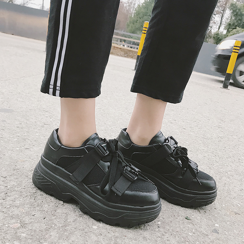 Weweya 2018 Spring Summer New Style Mesh Breathable Platform Women Sneakers Casual Shoes Lace Up Woman Flats tenis feminino