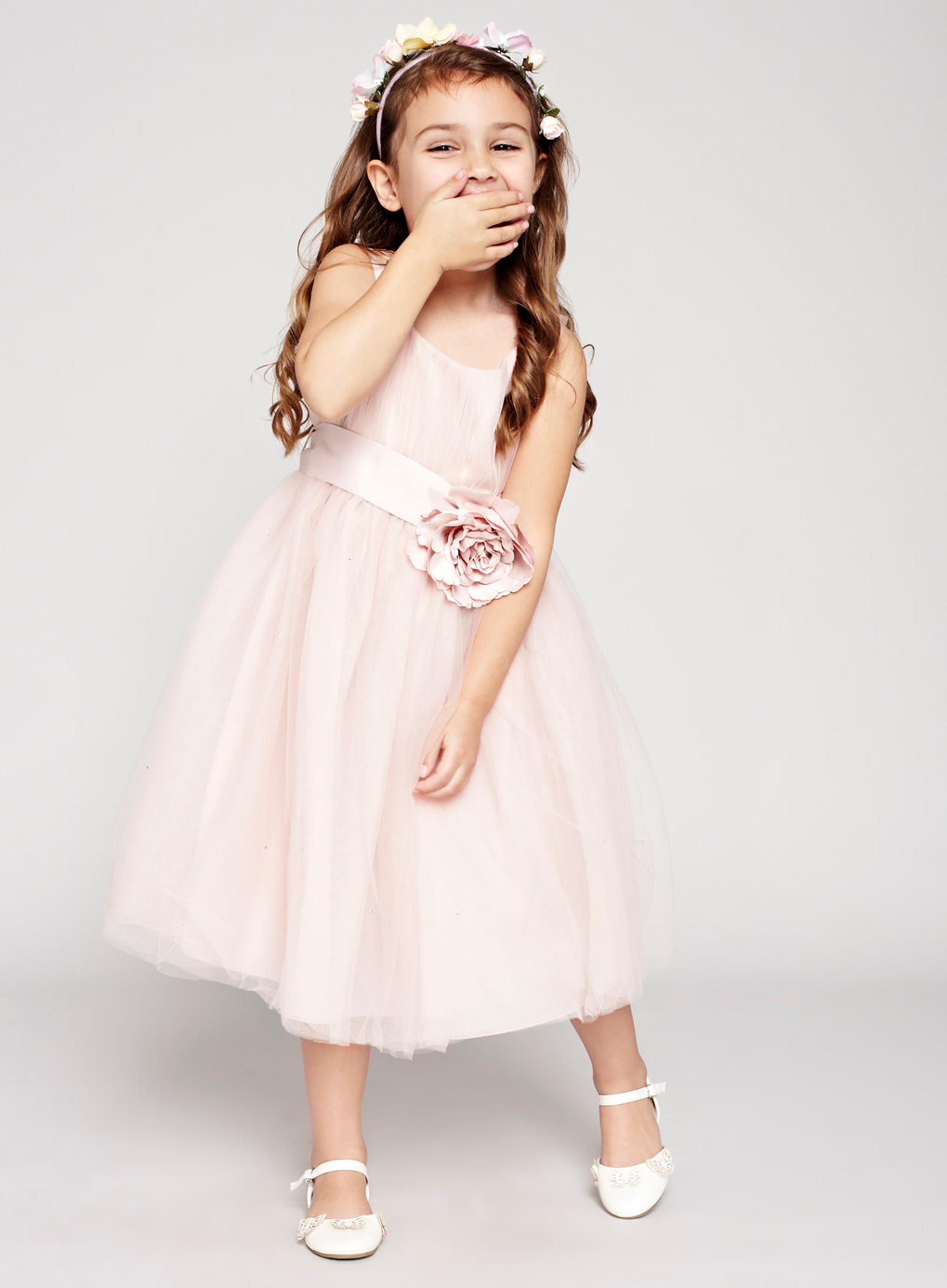 Flower Girls Dresses For Wedding Gowns Knee-Length Kids Prom Dresses Tulle Mother Daughter Dresses With Flower For Girls Party short flower girls dresses for wedding gowns knee length kids prom dresses lace dress girl tulle mother daughter dresses