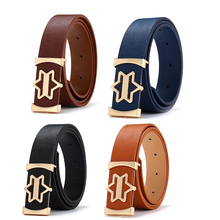 2019 New Genuine Leather Designer Men Belts High Quality Smooth Buckle Belt for Women Leisure