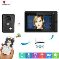 Yobang Security Freeship 7inch Wired Wireless Wifi IP Video Door Phone Doorbell Intercom WIFI Doorbell For