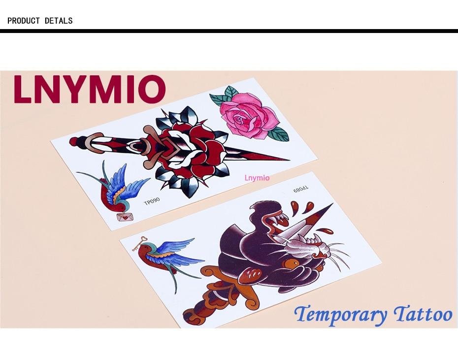 17 School Tattoo sword Panther leopard swallow bird tattoo sticker body art sticker 9