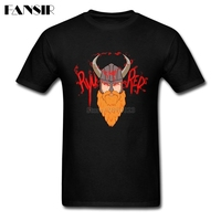 Plus Size Ryu The Red Viking Rock Tshirts For Men White Short Sleeve Custom Men T