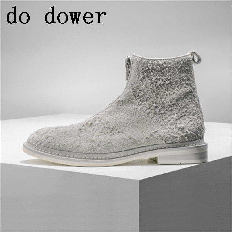 Весенние мужские повседневные кроссовки, зимние мужские роскошные кроссовки, ботинки челси ручной работы для взрослых, обувь из натурально...