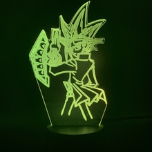 3d Lamp Led Night Light Japanese Anime Yu Gi Oh Vrains Yugi Mutou Figure Cool Gift for Kids Child Bedroom Decorative Nightlight