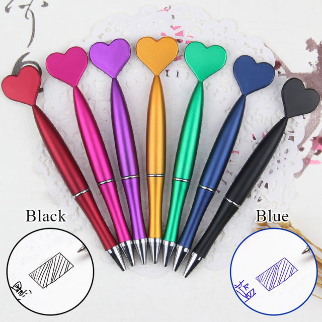 1Piece Cute Heart Ballpoint Pens 1.0mm Creative Pens Lovely Mermaid Tail Ball Pens For Writing School Office  Novelty Stationery 1