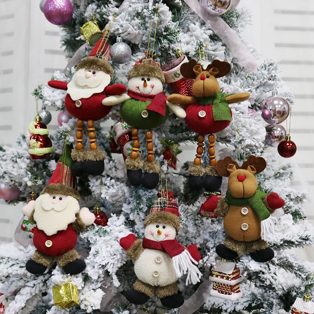 3pcs/set Christmas Tree Hanging Doll Santa Reindeer ...