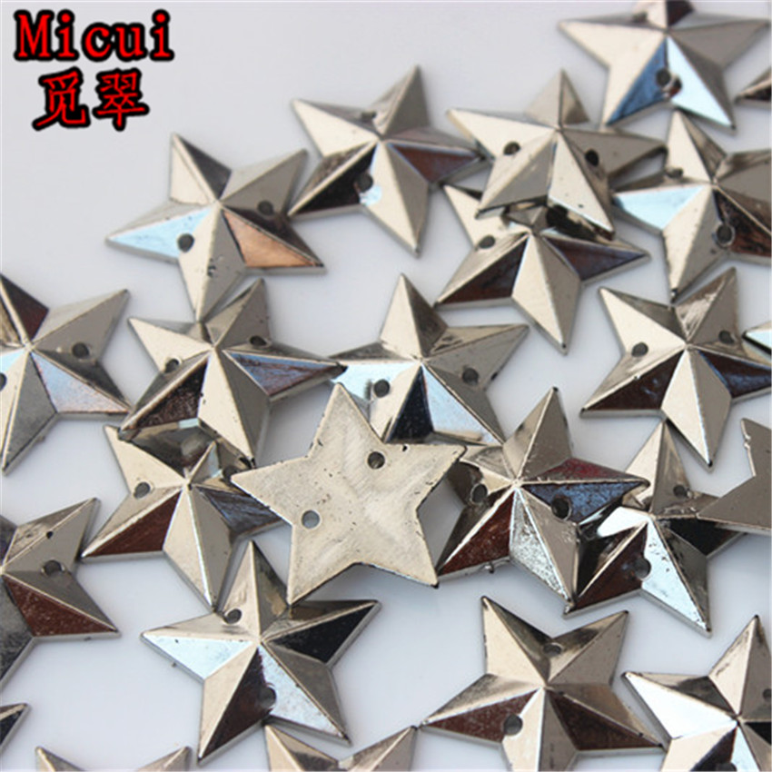 Detail Feedback Questions about Micui 100PCS 16mm Five pointed star Acrylic  Rhinestones Sew On Crystals Stone Sewing Flatback Appliques for Crafts  Clothes ... 2a023092654f