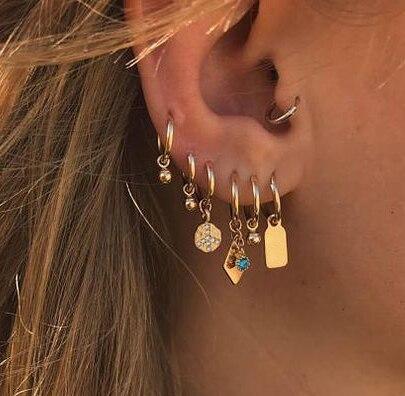 Artilady endless boucles boucles d'oreilles pour femmes cartilage croix boucle d'oreille coeur boucles d'oreilles créoles bijoux cadeau
