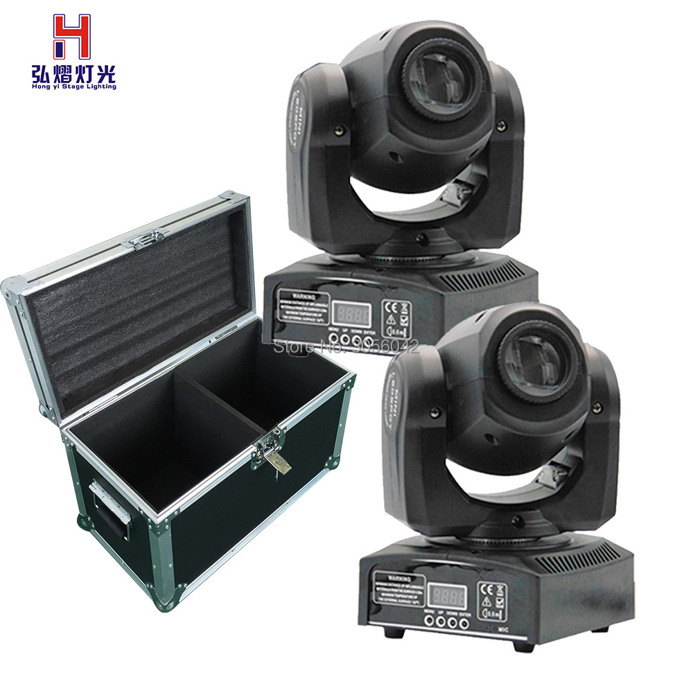 flight case 2pcs/lot hot selling Party disco dj stage light 10w dmx mini gobo projector spot led moving head футболка с полной запечаткой женская printio abstract t shirt