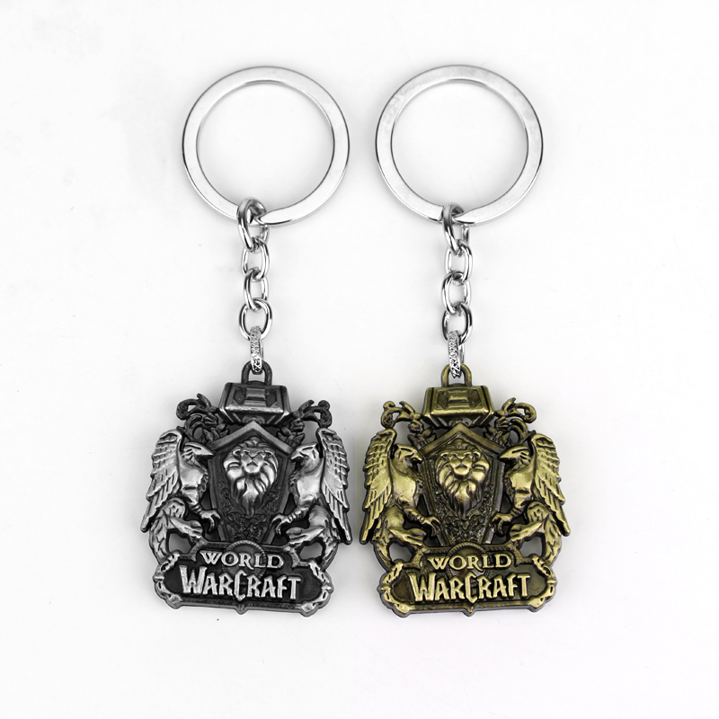 Fashion Metal Jewelry WOW World of Warcraft Alliance Lion Emblem Keychain vixen return of lion