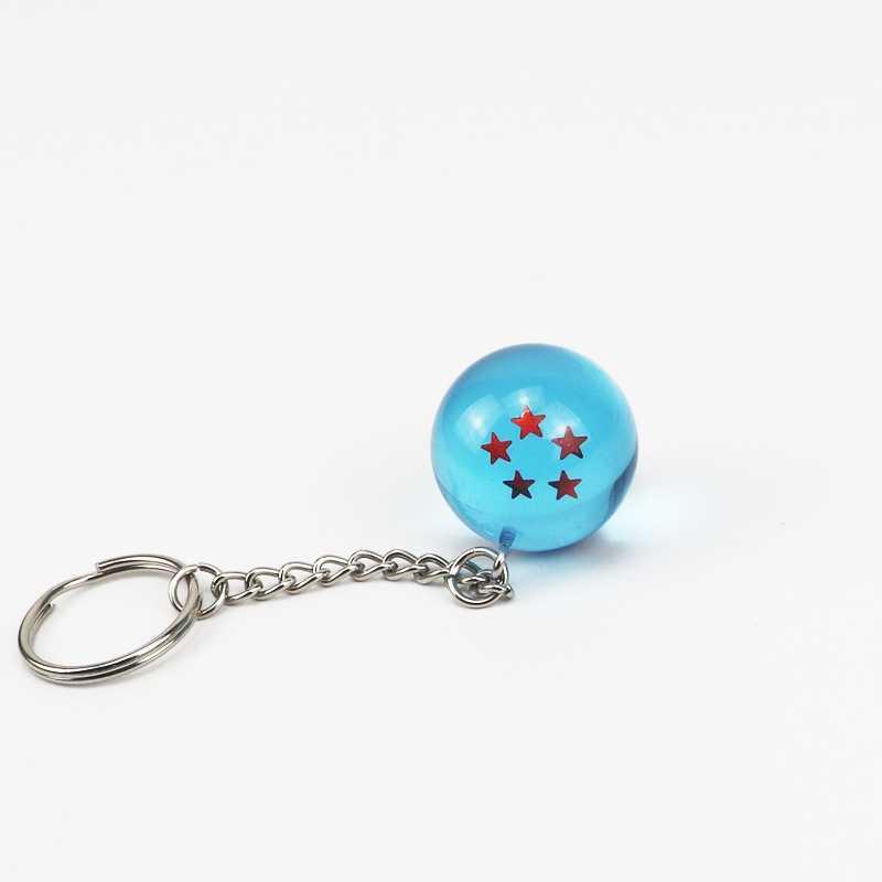 ของเล่นเด็กญี่ปุ่นอะนิเมะ Bule ลูกมังกร 7 ดาวลูกบอลของเล่นเด็ก Keychain จี้ของเล่นตัวเลข 2.7 ซม. dragon Ball ของขวัญ