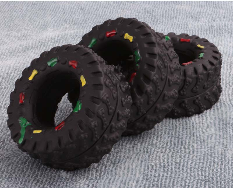 OnnPnnQ Elasticity Tire Dog Cat Toy Squeak Sound Chew Treat Holder Funny Puppy Training molar Toys Dog Interactive Pet Supplies6