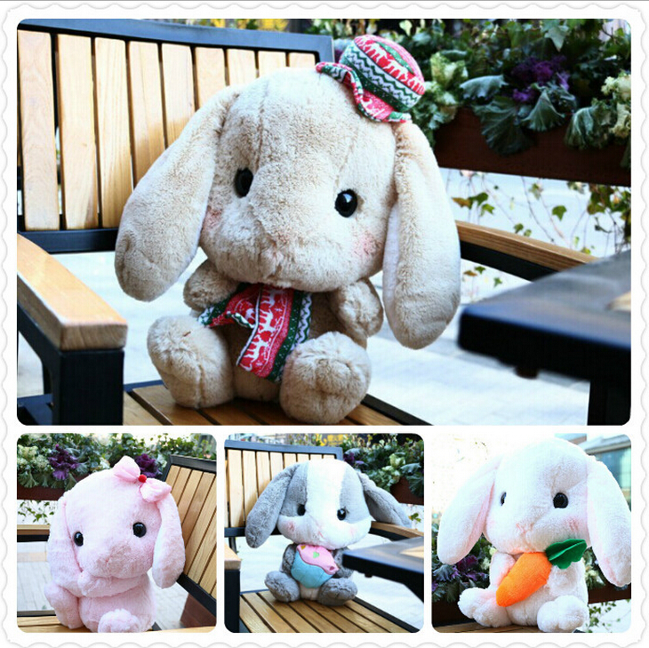 16''40cm Amuse Rabbit Doll Plush Toy New Cute Lop Rabbit Bugs Bunny Doll Christmas Gift Girls Dolls Baby Toy super cute plush toy dog doll as a christmas gift for children s home decoration 20