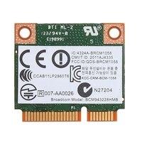Cartão sem fio duplo 2.4 + 5g 300 m 802.11a/b/g/n wifi bluetooth 4.0 metade mini pci-e para hp bcm943228hmb sps 718451-001