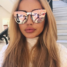 NEW Fashion Medusa Rimless Sunglasses Women Brand Cat eye Eyewear UV400 Rose Gold Sunglasses Aviation Style zonnebril dames