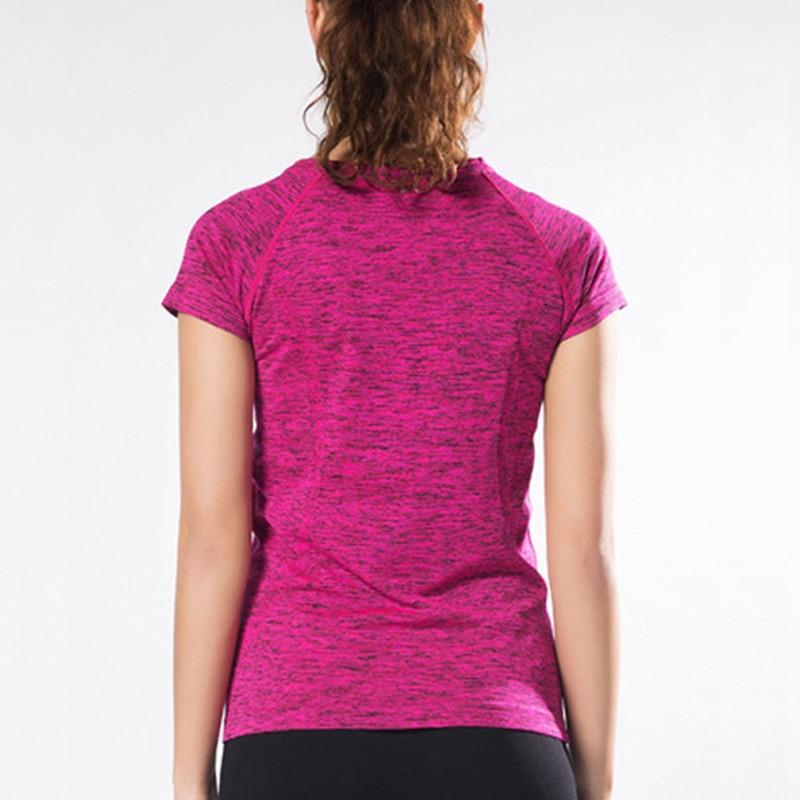 Профессиональный Для женщин Рубашки йоги летом тренажерный зал Фитнес Бег Спорт сжатия Колготки для новорождённых быстросохнущая Футболк...