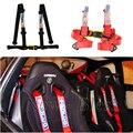 """JDM Universal Negro Rojo Azul 2 """"de 4 Puntos de Nylon Sparcos Racing Seguridad Cinturón de seguridad Arnés Del Cinturón de seguridad Del Coche"""