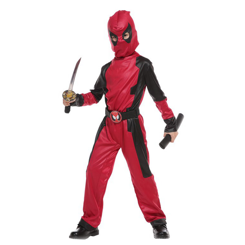 Umorden Purim Party Halloween Costumes for Boys Boy Masked Knight Hero Deadpool Costume Cosplay Jumpsuit for Children Kids