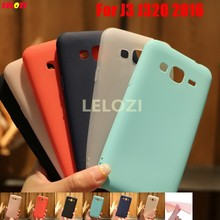 LELOZI Pretty Candy Colors TPU Silicone Soft Phone Mobile Cell Carcasa Etui Case For Samsung Galaxy J3 J320 2016 5.0 J 3 320(China)