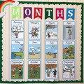12 шт./компл.  обучающая открытка на английском языке  А4  большая карта  развивающие игрушки для детей  подарки