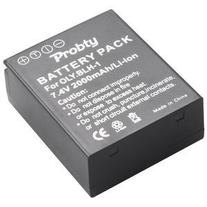 Image 1 - Batterie BLH1 2000 mAh BLH 1 pour appareil photo Olympus BLH 1 et Olympus EM1 MARK II