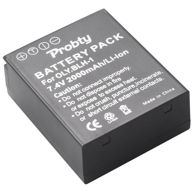 Batterie BLH1 2000 mAh BLH 1 pour appareil photo Olympus BLH 1 et Olympus EM1 MARK II