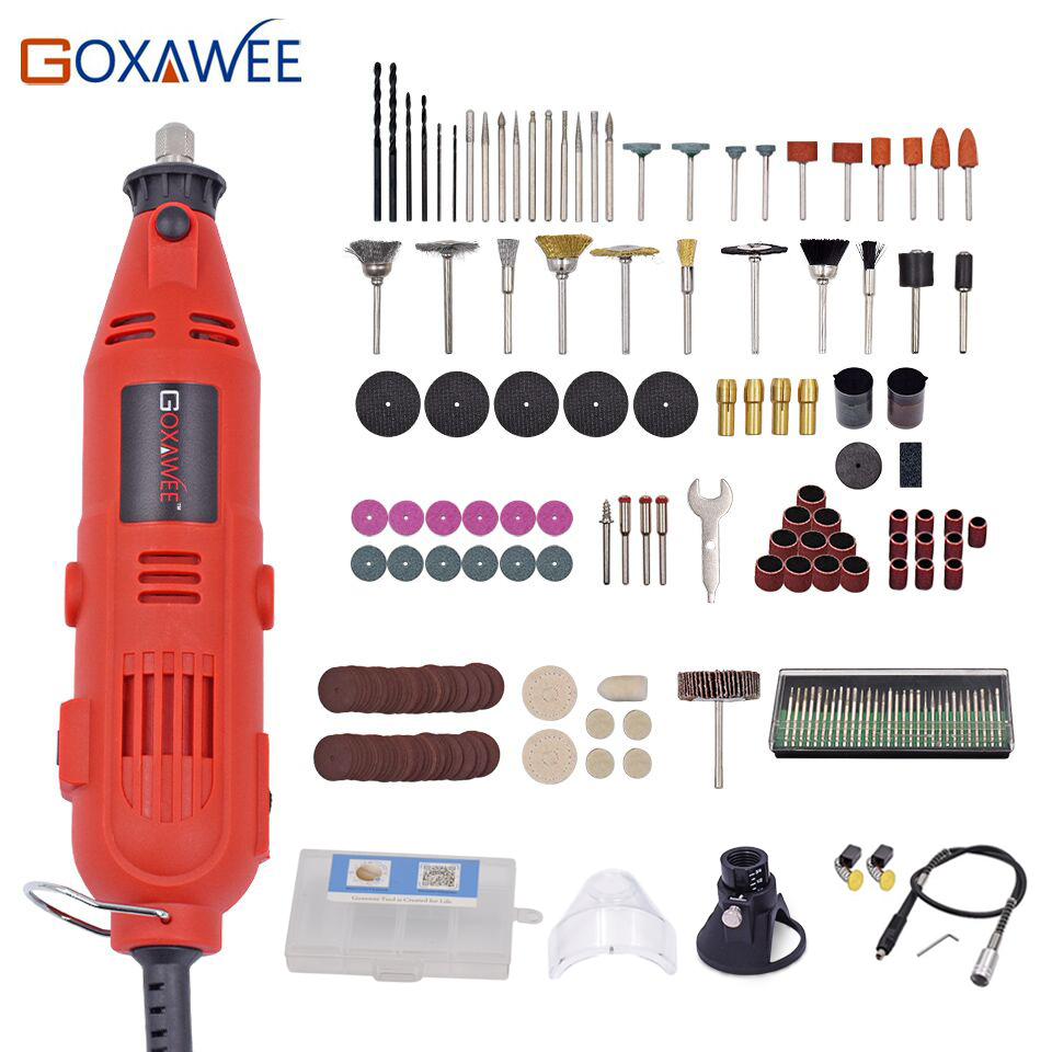 Mini Drill Electric Drill 110V 220V Variable Speed Rotary Tool With 180pcs Power Tools Accessories For Dremel Mini Grinder