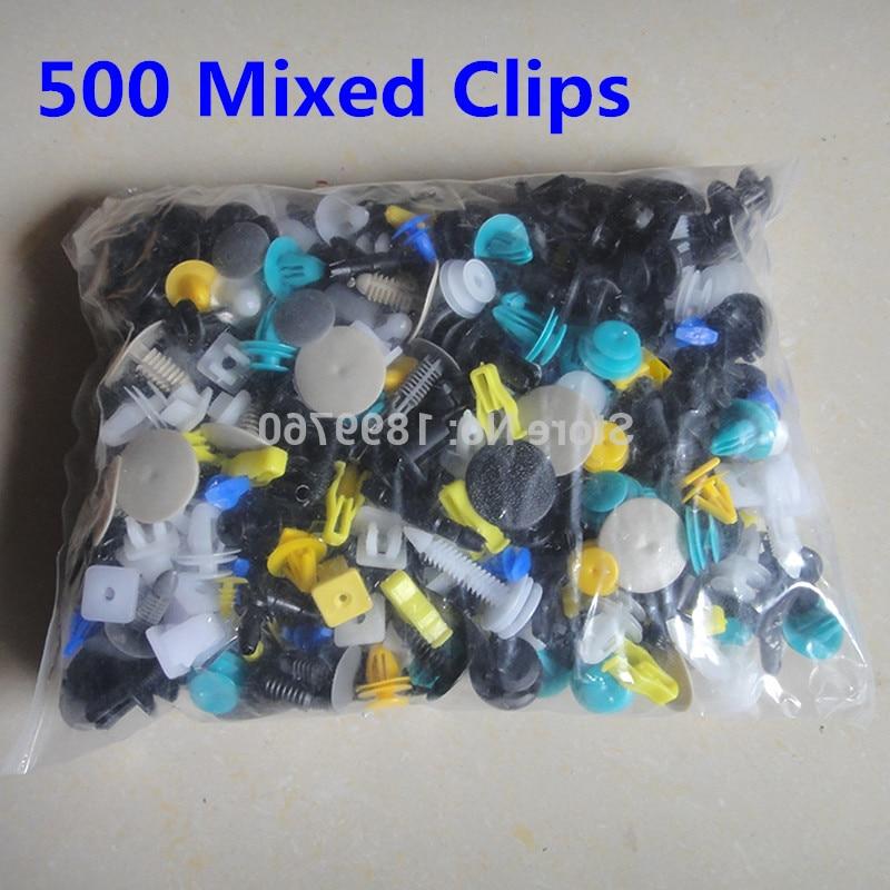 500Pcs Car Push Pin Mixed Door Trim Panel Clip Fastener Bumper Rivet Retainer
