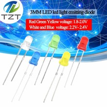 Assorted-Kit Led-Diode-Light Red-Component Green White Blue Yellow 1color--100pcs F3