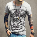 Homens Impresso manga curta engraçado camiseta Famosa Marca o Desgaste Do Verão Hip Hop Homem Algodão Tops Tees Roupas Masculinas Camisa Masculina 2016