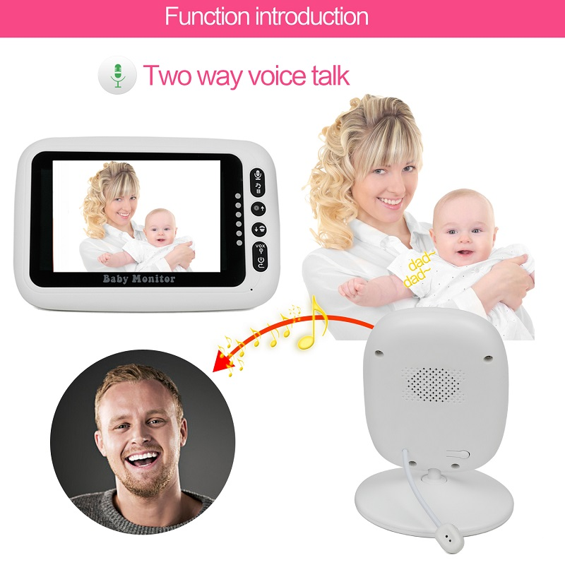 IMPORX 4.3 inch High Resolution Baby MonitorWireless Video Color Baby Nanny Security Camera Night Vision Temperature MonitoringIMPORX 4.3 inch High Resolution Baby MonitorWireless Video Color Baby Nanny Security Camera Night Vision Temperature Monitoring