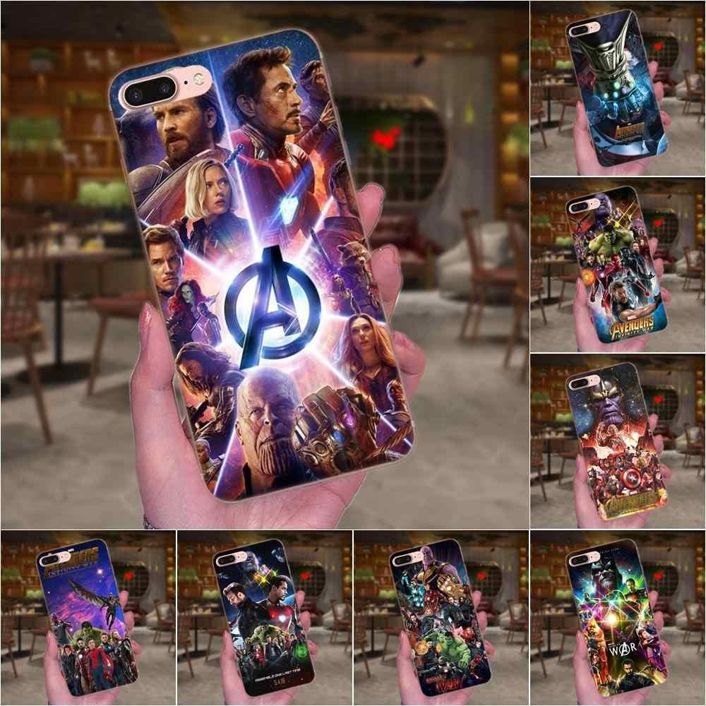 Fundas blandas de TPU para teléfono Marvel Dc superhéroe vengadores Infinity War para Xiaomi Redmi Note 2 3 3S 4 4A 4X5 5A 6 6A Pro Plus