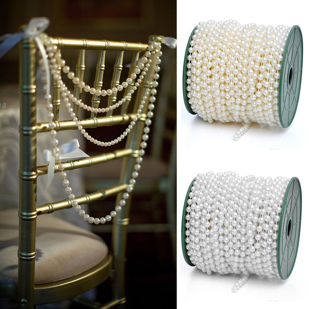 White  Ivory Pearl Chains For Decorating Favors Vases