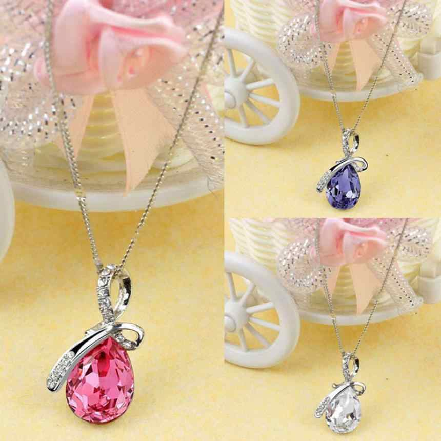 Fantastic Women Lady Necklaces Rhinestone Chain Crystal Necklace Pendant Jewerly Fashion Ornaments Chokers Necklaces Torque