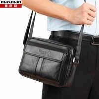 2018 nowych moda małe torby na laptopa z prawdziwej skóry dla mężczyzn crossbody biznes torby na ramię w nowym stylu mężczyzna torebki ze skóry wołowej
