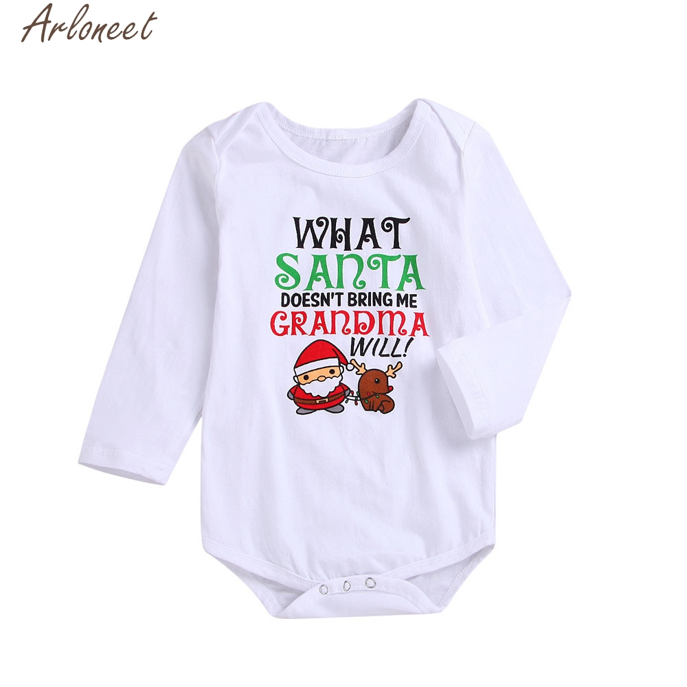 Arloneet Newborn Baby Girls Boys Clothes Letter Print Baby Girl Clothes Baby Boy Winter Clothes 2 Year Romper Jumpsuit Less Expensive