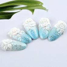 Acrylic Powder Crystal nail extensions Art Tips