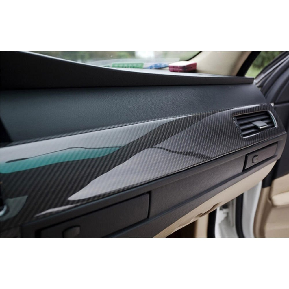 Car Styling 200cm*50cm Glossy Black 5D Carbon Fiber Vinyl Film Car Wrap With Air Free Bubble DIY Car Tuning Part Sticker