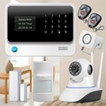Черный/белый Wi-Fi GSM GPRS Сигнализация Датчик охранной сигнализации системы Сигнализации дома Охранная Охранной сигнализации + WIFI IP камера