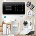 3G preto/branco WiFi GSM GPRS Sistema de Alarme de Sensor de Alarme de segurança em casa sistemas de Alarme de Assaltante Do alarme De Segurança + Câmera IP WI-FI