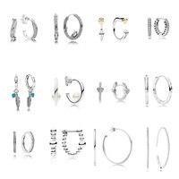 12 стиль 925 стерлингового серебра серьги перо сердце серьги для женщин Свадебная вечеринка ювелирные изделия