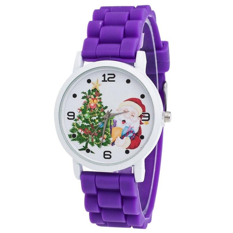2018 Christmas Gifts Cartoon Watches Kid Girls Rubber Straps Wristwatch Children Christmas Quartz Watch Montre Enfant #4M10