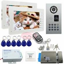 "SUNFLOWERVDP Video Intercom With Electric Lock 7 "" Color TFT Monitor LCD Villa Intercom System Key IP65 Waterproof CCD Camera"