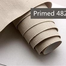 482 г 1,95 м широкое качество пустая льняная смесь холст рулон с тонкой средней текстурой