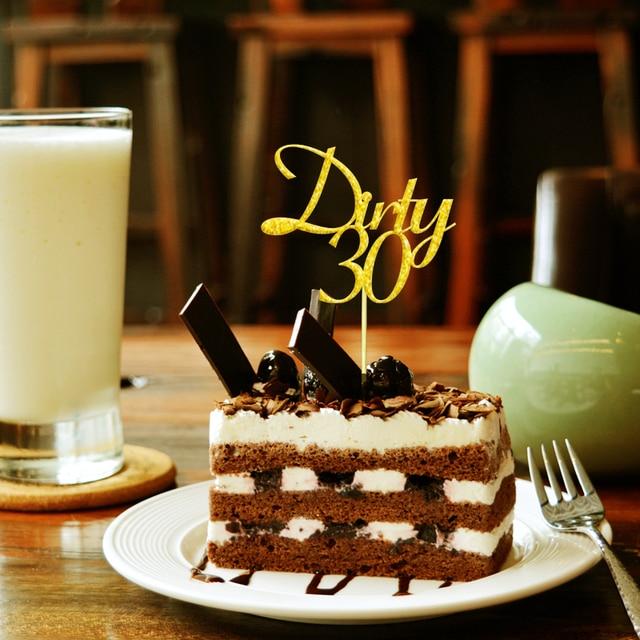 20x Glitter Gold Silber Schmutzig 30 Geburtstag Vierzig Kuchen