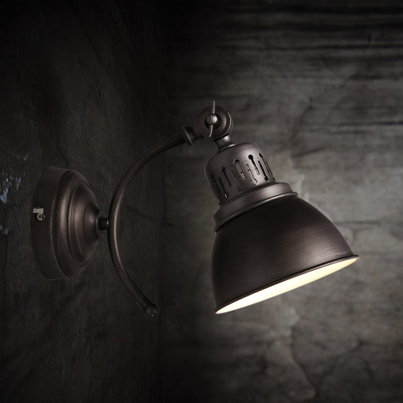 American Retro Iron RH Loft Industrial LED Vintage Wall Lamp Indoor Lighting Bedside wall Lights for home 110V/220V E27 vintage wall lamp indoor lighting bedside lamps wall lights for home
