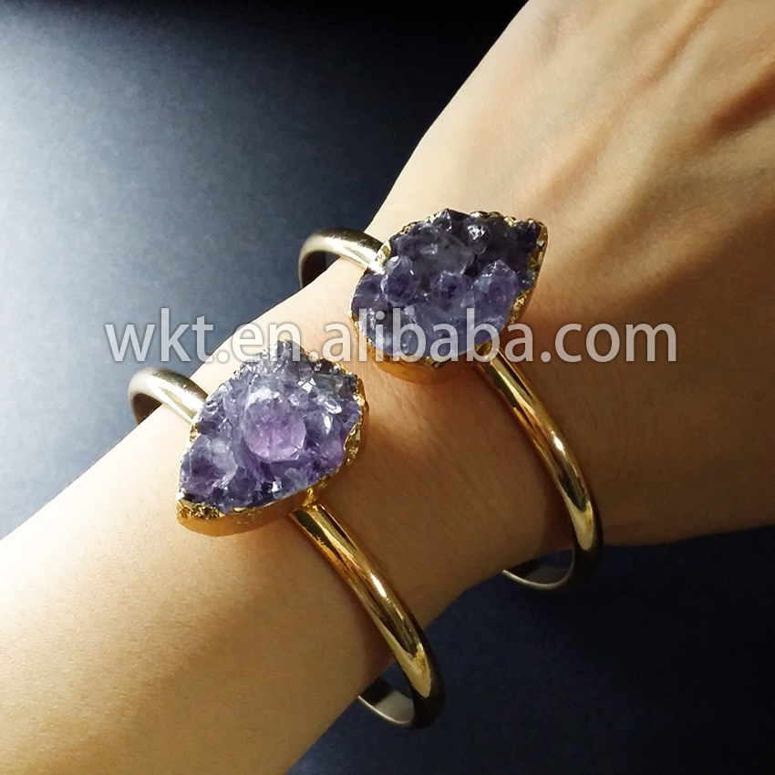 Sweet And Romantic Druzy Crystal At Gate Bracelet In Adjustable Sizewt-b173 Famous For Selected Materials Inventive In Stock!ffashion Women Crystal Flower Bracelet Novel Designs Delightful Colors And Exquisite Workmanship